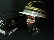 TNKTR−40C峠CORKHELMET旧車コルク半ヘルメットブラック/ゴールドフリーサイズ
