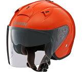 ヤマハ YJ-14 ZENITH サンバイザー オープンフェイスヘルメット ダークオレンジ あす楽対応 送料無料