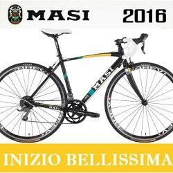 ロードバイクマジィイニジオベリッシマ(ブラック/オレンジ/ティール)2016MASIINIZIOBELLISSIMA