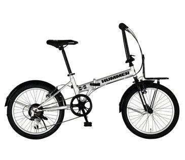 折り畳み自転車 HUMMER FDB206 TANK-N (シルバー) ハマー FDB 206 タンク-N FOLDING BIKE フォールディングバイク