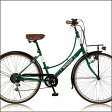 CITYバイク RENAULT 266L Classic- E 26インチシティーバイク(33842) グリーン ルノー