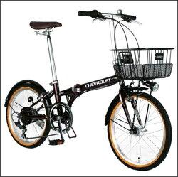 折り畳み自転車 CHEVROLET CHEVY FDB206SE  レッド 33647 / シボレー 20インチ シボレー 折りたたみ自転車