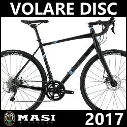 ロードバイク マジィ ヴォラーレ ディスク (SGブラック/アバローニー) 2017 MASI VOLARE DISC 02P03Dec16 ドライブトレインにシマノ105を採用する実力派モデル。