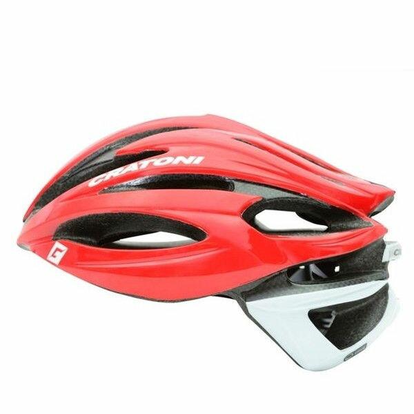 CRATONI / クラトーニ / C-SHOT シーショット / Red-white glossy (サイクルヘルメット) 02P03Dec16