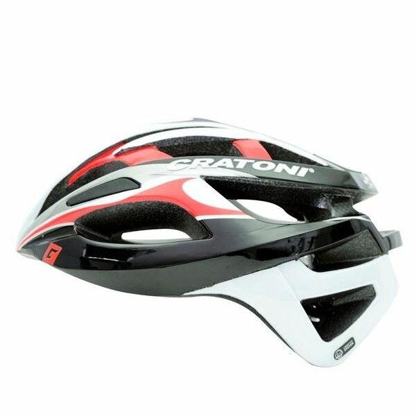 CRATONI / クラトーニ / C-BREEZE シーブリーズ / Black whitew-red glossy (サイクルヘルメット) 02P03Dec16
