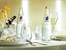 スルジーヴァ(SURGIVA)ナチュラーレ無炭酸水グラス(ビン)使用イメージ
