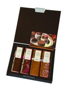 160年の伝統に独自の発想を融合させた世界一の称号を持つ ベルナルド・カレボー チョコレートバー 4本セット(56g×4種類) 化粧箱入り