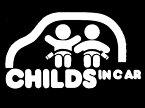 カッティング ステッカー【CHILDS IN CAR】(全3色)車 バイク アメリカン セーフティーデカール BABY IN CAR ステッカー