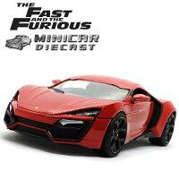 1/24ワイルドスピードミニカー箱入り【LykanHyperSport(レッド)】ハイパースポーツアメ車FAST&FURIOUS
