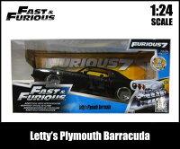 1/24ワイルドスピードミニカー箱入り【Letty's1970PlymouthBarracuda】プリムスバラクーダアメ車FAST&FURIOUSレティ