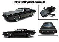 1/32箱入りミニカー【Letty's1970PlymouthBarracudaブラック】ワイルドスピードレティプリムスバラクーダ1:32FAST&FURIOUSワイルド・スピード