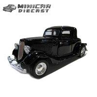 1/24箱入りダイキャストミニカー【1934FORDCOUPEブラック】34年式フォードクーペアメ車【MOTORMAX】