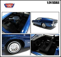 1/24箱入りミニカー【1971FORDMUSTANGSPORTSROOF(メタリックブルー)】1971年式フォードマスタングスポーツルーフアメ車MOTORMAXモーターマックスダイキャスト