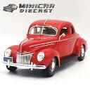【送料込み】ミニカー 1/18 箱入り 1939 FORD DELUXE レッド フォード デラックス ダイキャスト アメ車 MAISTO 1