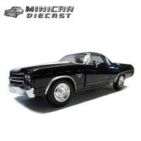 箱入り1:24ミニカー【1970CHEVROLETElCAMINOSS(ブラック)】1970年式プリムスクーダアメ車【NewRay社製】