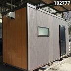 【更衣室・休憩室・詰め所に最適!】【102777】【中古】3.7m 単棟ユニットハウス 《トイレ付き》