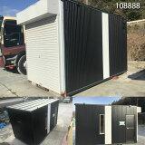 【108888】【中古】3.86mガレージ隠れ家バイクガレージ・保管庫・作業部屋・倉庫・DIY・ユニットハウス