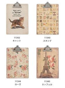 クリップボードクリップボード A4 おしゃれ かわいい 猫 文具文房具 ステーショナリー アンティークpo-11342-11345