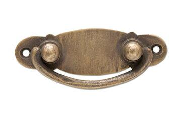 取っ手 つまみ 金具 引き出し ハンドル ノブ アンティーク風 インテリア雑貨ブラスキャビネットハンドル 3コセット po-62557