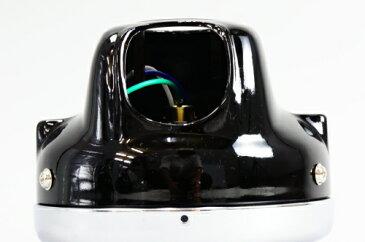 【6ヶ月保証付】ヘッドライト ブラックボディ イエローレンズ【NS-1 エイプ50 エイプ100 ゴリラ モンキー ドリーム50 solo GB250クラブマン FTR223/250 CL400 CB400SS TZR50 RZ50 YB-1 TW200 エストレア】マルチリフレクターライト カスタムパーツ【あす楽】