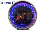 【送料無料】電気式タコメーター ブラックパネル 13,000rpm LEDバックライト 6ヶ月保証 aiNET製 あす楽