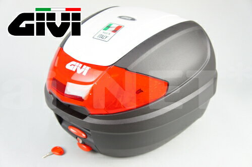GIVIジビリアボックスバイク用ボックスモノロックケースE300N2B912パールホワイト白76880バイクリアボックストップケ