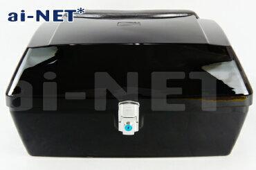 あす楽対応可【aiNET[アイネット]】大型リアボックストップケース50Lバイク用ボックスブラック(黒)【汎用品】