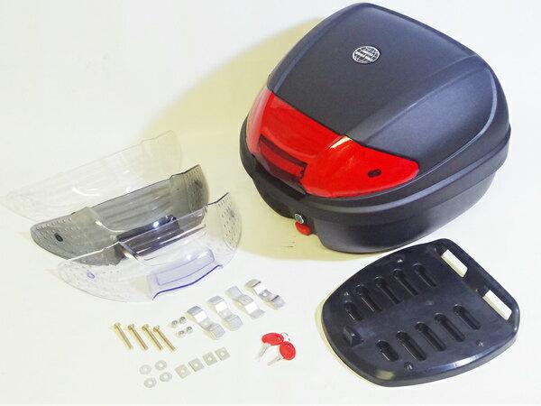 国内メーカー品 リアボックストップケース30Lフォーカラーズレンズ4色付 フルフェイスヘルメット収納 GIVIジビE19N同容
