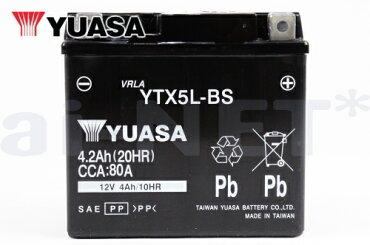 YTX5L-BSバッテリー【YUASA】ユアサバッテリー【YT5L-BS】【FTH5L-BS】【FT5L-BS】【互換】【バッテリー】