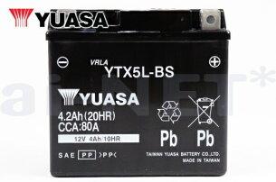 ユアサバッテリー【FTR/BA-MC34用】YUASAバッテリーYTX5L-BS【5L-BS】