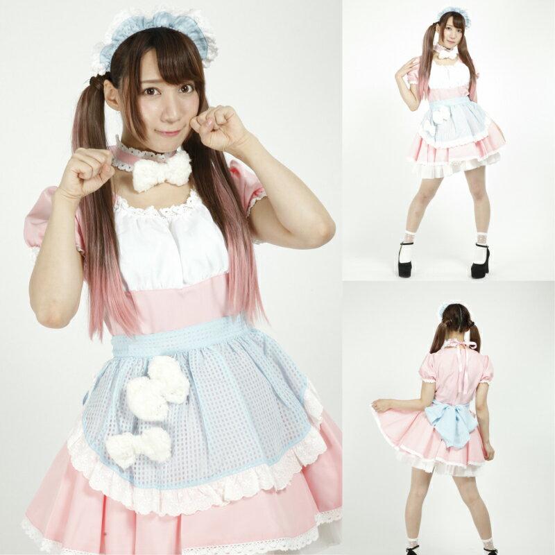 42336f0c0b7bd メイド服 ポップキュートメイド ピンク Sサイズ Lサイズ XXLサイズ 原宿系 ゆめかわいい kawaii ハロウィン コスプレ 衣装 仮装