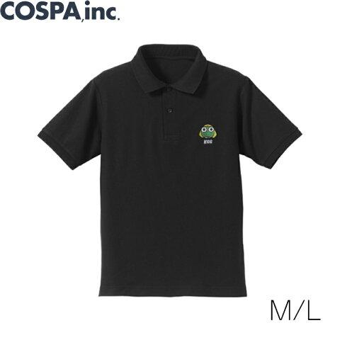 【SALE 対象商品】ケロロ軍曹 ケロロ軍曹 刺繍ポロシャツ 黒 M L サイズ COSPA コスパ