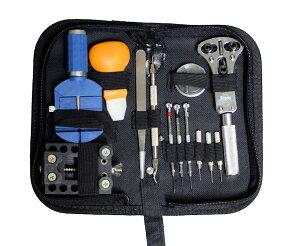 レビュー協力で送料無料時計のベルトや電池交換に活用できる必須の専用工具セット時計 工具 セ...