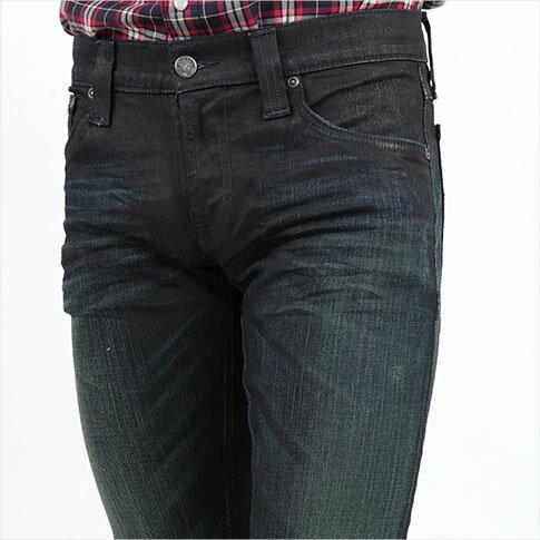 12 MONTHS カスタムメイド ストレッチ ブラック ヌーディージーンズ タイトロングジョン スキニージーンズ 40161-1206 極細モデル ヴィンテージ加工 TIGHT LONG JOHN 【スーパーセール開催!】 デニム Nudie Jeans