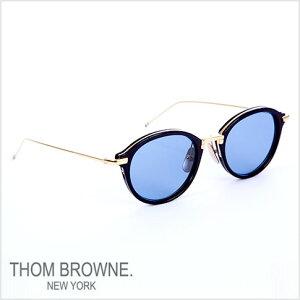 トムブラウンメガネTHOMBROWNE.NEWYORKEYEWEAR(トムブラウンニューヨーク)メガネサングラス[tb-011-f-t49sizeNAVY-SHINY18KGOLD/D.BLUE-AR]tb-011-f-t-T-NVY-GLD-49