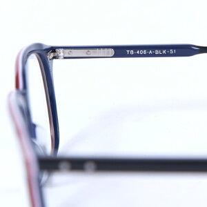 トムブラウンメガネTHOMBROWNE.NEWYORKEYEWEAR(トムブラウンニューヨーク)メガネ[TB-406A-T-BLK-51size]tb-406blackrwbtb-406-a