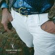 【在庫一点セールアイテム】TIBERIO FERRETTI / ティベリオフェレッティ【LEON掲載】STUDS BELT スタッズベルト コードバン加工 ナローベルト 2.5cm 9181 3色 ブルー レッド ブラウン95