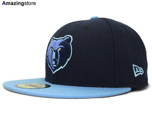 NBA現行モデルのNEW ERA 59FIFTY FITTED CAPNEW ERA MEMPHIS GRIZZLIES【NBA-CHASE/NAVY-SKY】 ...