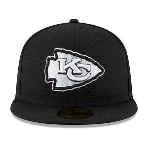 ニューエラ カンザスシティ チーフス 59FIFTY 【NFL TEAM-BASIC FITTED CAP/BLACK-WHITE】 NEW ERA KANSAS CITY CHIEFS [20_2_2SBLIV]