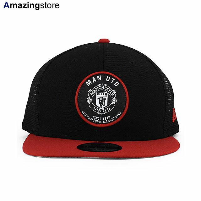メンズ帽子, キャップ  9FIFTY FC TECH PACK TRUCKER MESH CAPBLACK-RED NEW ERA MANCHESTER UNITED FC BLK COLORBOTTOM FBMESH 2175NE