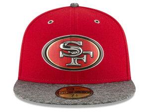 NEW ERA SAN FRANCISCO 49ERS 【2016 NFL DRAFT/RED-DARK HEATHER GREY】 ニューエラ サンフランシスコ フォーティーナイナーズ ドラフト 59FIFTY フィッテッド キャップ FITTED CAP AUTHENTIC [帽子 ヘッドギア メンズ 16_4_2DRF16_4_3]