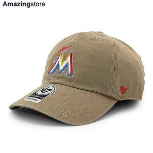 【あす楽対応】47ブランド マイアミ マーリンズ 【MLB CLEAN UP STRAPBACK CAP/KHAKI】 47BRAND MIAMI MARLINS カーキ [19_12_3FTS 19_12_4]