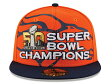NEW ERA DENVER BRONCOS 【NFL 3X SUPER BOWL CHAMPS/ORG-NAVY】 ニューエラ デンバー ブロンコス 59FIFTY FITTED CAP フィッテッド キャップ スーパーボウル [帽子 ヘッドギア new era cap ニューエラキャップ 大きい サイズ GOLD-50 16_9_2]