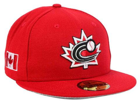 NEW ERA WORLD BASEBALL CLASSIC 【2017 CANADA ON FIELD PERFORMANCE/RED】 ニューエラ カナダ オンフィールド 59FIFTY フィッテッド キャップ FITTED CAP WBC レッド 赤 [帽子 BIG_SIZE 17_2_5WBC 17_3_1 17_3_14]