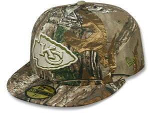 NEW ERA KANSAS CITY CHIEFS 【NFL TEAM-BASIC/REALTREE CAMO】 ニューエラ カンザスシティ チーフス 59FIFTY FITTED CAP フィッテッド キャップ [帽子 迷彩 camouflage リアルツリー 16_6_3 16_6_4]