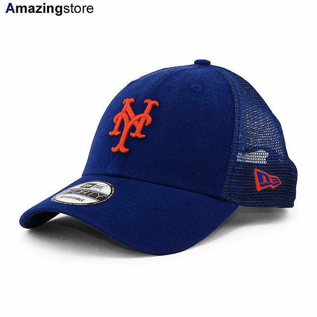 メンズ帽子, キャップ  9FORTY MLB TRUCKER MESH CAPRYL BLUE NEW ERA NEW YORK METS 216RE0628