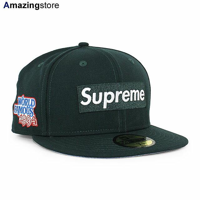 メンズ帽子, キャップ SUPREME 59FIFTY WORLD FAMOUS BOX LOGO FITTED CAPDK GREEN NEW ERA GRN 20124SUP