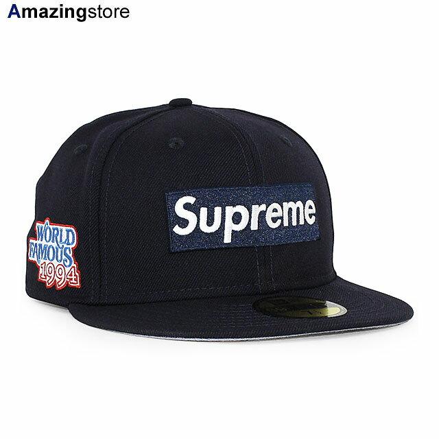 メンズ帽子, キャップ SUPREME 59FIFTY WORLD FAMOUS BOX LOGO FITTED CAPNAVY NEW ERA 20124SUP