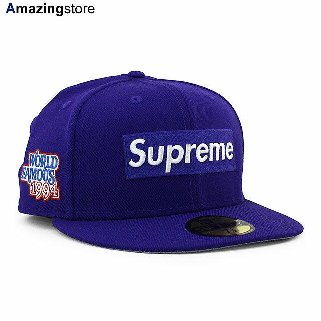 メンズ帽子, キャップ SUPREME 59FIFTY WORLD FAMOUS BOX LOGO FITTED CAPPURPLE NEW ERA PUR 214RE