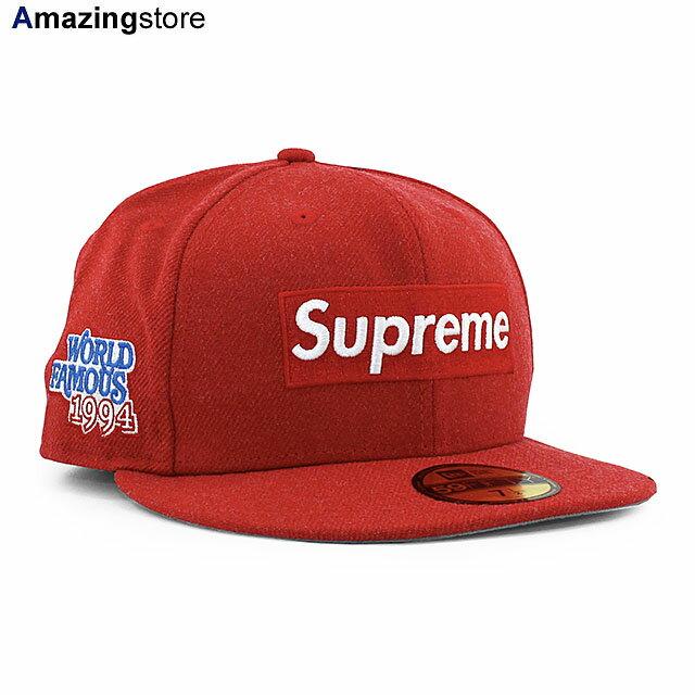 メンズ帽子, キャップ SUPREME 59FIFTY WORLD FAMOUS BOX LOGO FITTED CAPRED NEW ERA 20124SUP